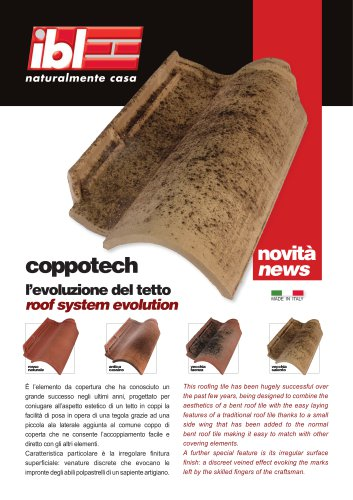 Roofing Tiles -Coppotech  roof system evolution (IT-EN)