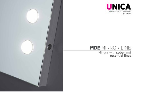Unica, MDE mirrors line Catalogue