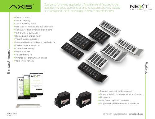 Axis Standard Keypad locks