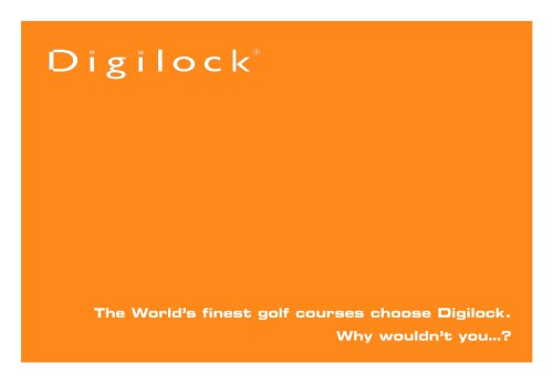 Golf Resorts Reference Book