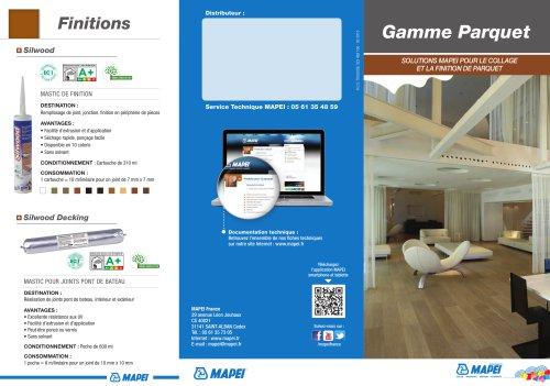 Gamme Parquet : solutions MAPEI pour le collage et la finition de parquet