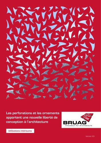 Brochure Application Intérieure Panneaux Bruag (Séparateurs de Pièces, Revêtements Muraux, Rampes d'Escaliers, Système Acoustique)