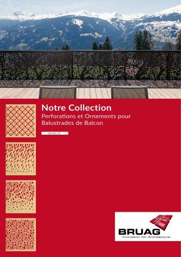 Collection de perforations Bruag pour parapets de balcon
