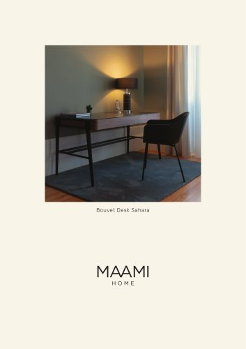 Bouvet Desk Sahara Noir factsheet