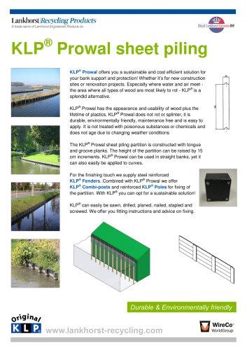 KLP® Prowal sheet piling
