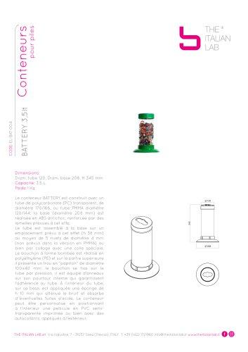 BATTERY 3,5lt Conteneurs pour piles