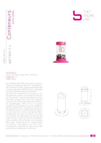 BATTERY 7 lt Conteneurs pour piles