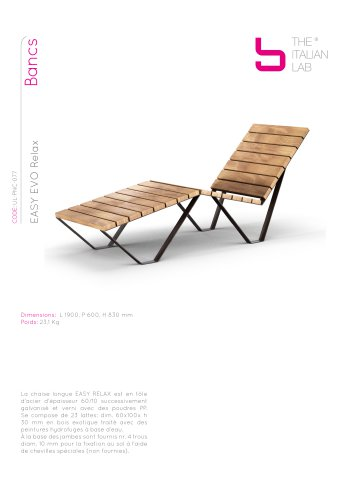 EASY EVO Relax Bancs