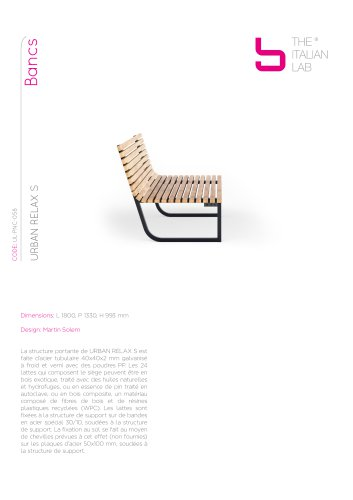 URBAN RELAX S Bancs