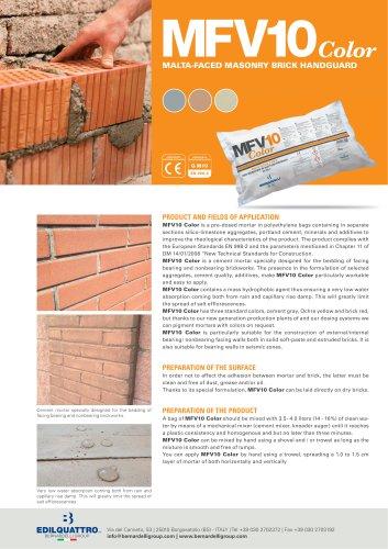 MFV10 color- Malta-faced masonry brick handguard