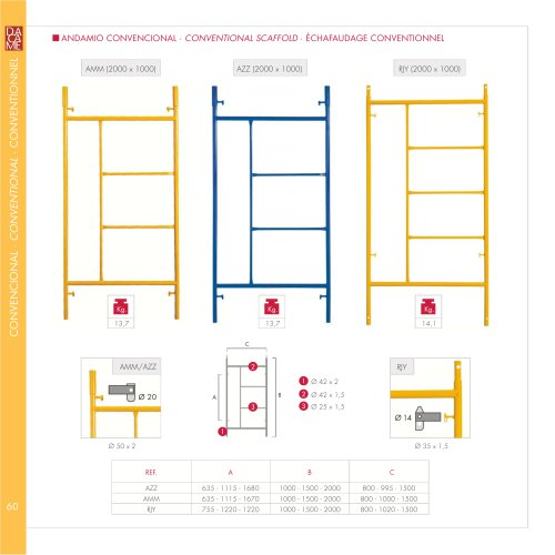 Conventional scaffold