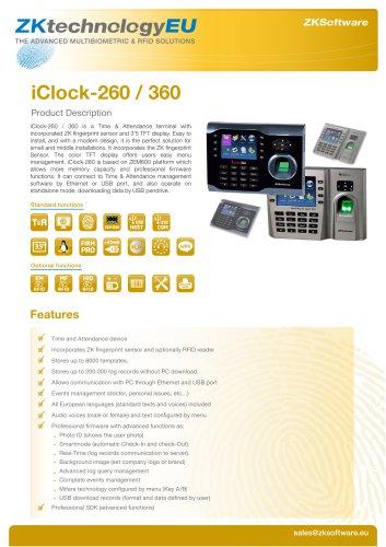 iClock-260 / 360
