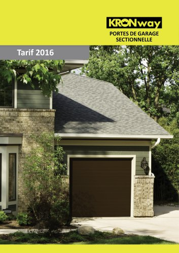 Portes De Garage Sectionnelle Tarif 2016 Kronway