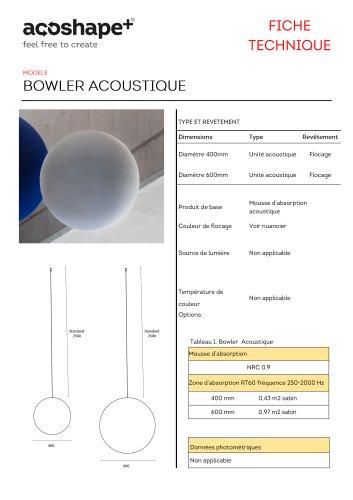 Bowler acoustique