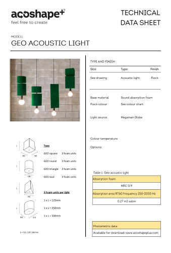 Geo acoustic light