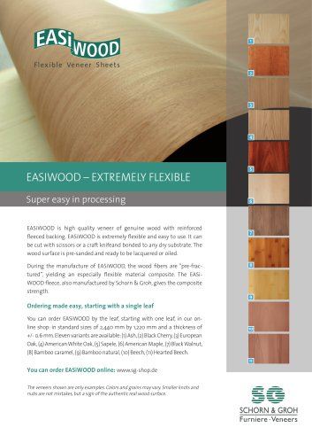 EASIWOOD – EXTREMELY FLEXIBLE