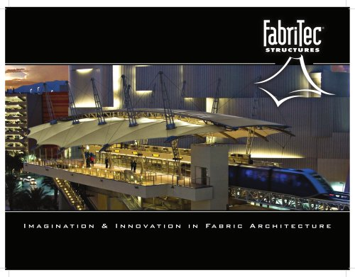 FabriTec Structures' Tensile Membrane Roofing Systems Brochure