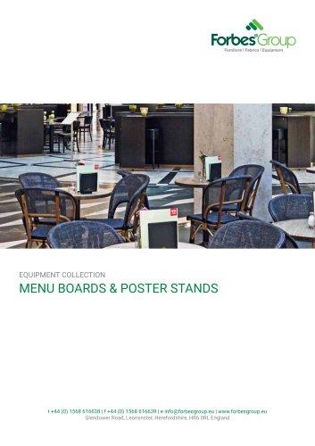 MENU BOARDS & POSTER STANDS