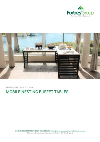 MOBILE NESTING BUFFET TABLES