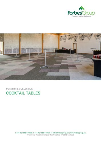 Outdoor Cocktail Tables (Aluminium Frame)