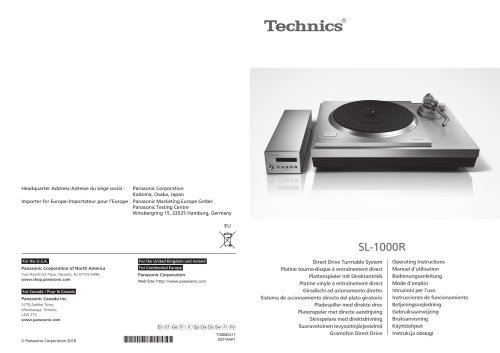 SL-1000R / Direct Drive Turntable System