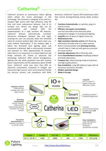 CatherinaS compact, high efficient, long lifetime LED smart fixture