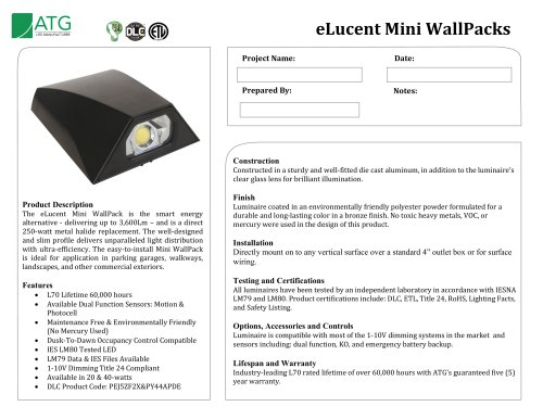 eLucent Mini WallPacks
