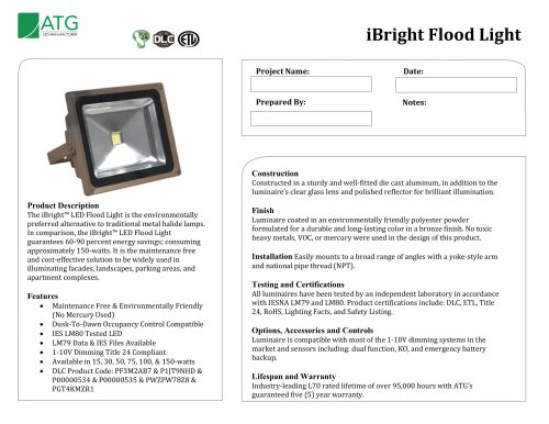 iBright Flood Light