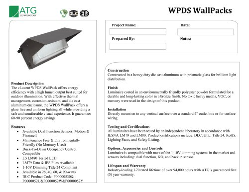 WPDS WallPacks