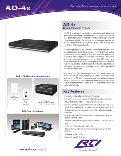 AD-4X AUDIO DISTRIBUTION SYSTEM