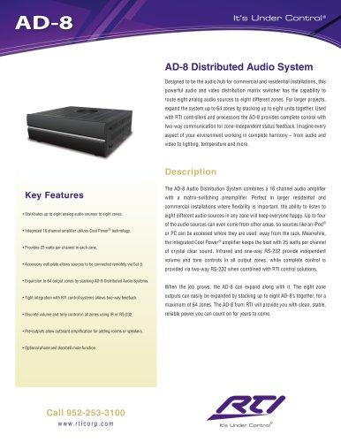 AD-8 AUDIO DISTRIBUTION SYSTEM