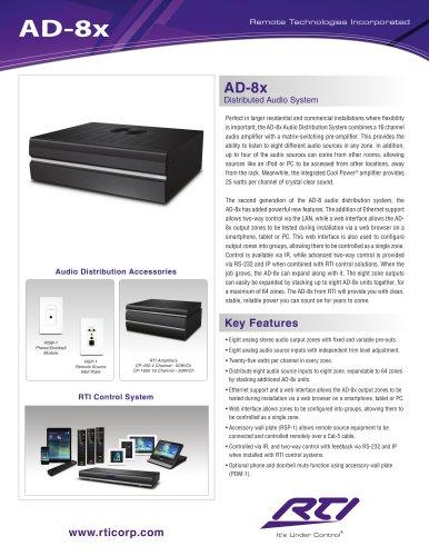 AD-8X AUDIO DISTRIBUTION SYSTEM