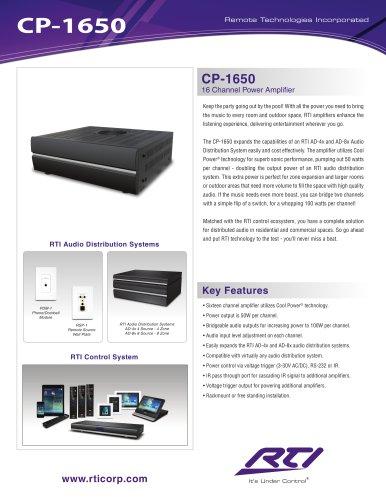 CP-1650 16 CHANNEL COOL POWER AMPLIFIER