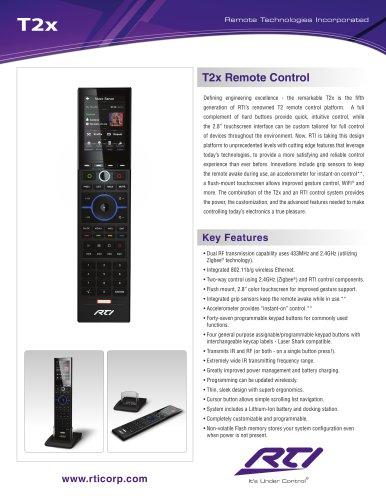 T2X REMOTE CONTROL