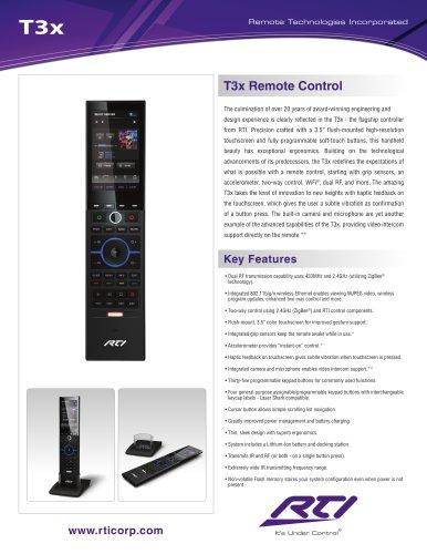 T3X REMOTE CONTROL