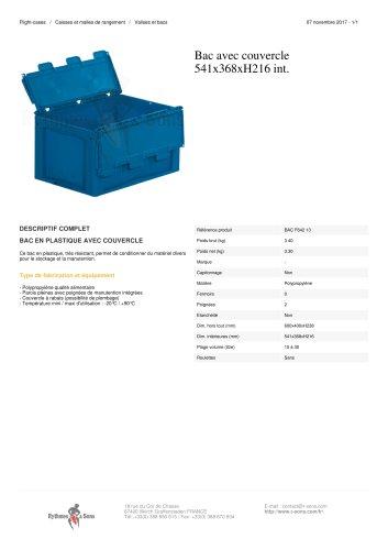 BAC AVEC COUVERCLE 541X368XH216 INT.