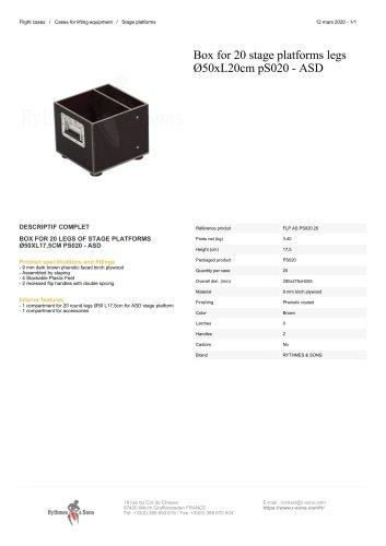 Box for 20 stage platforms legs Ø50xL20cm pS020 - ASD