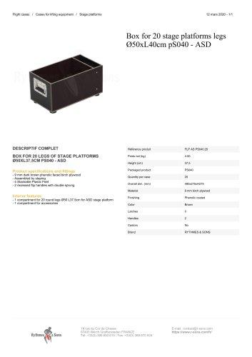 Box for 20 stage platforms legs Ø50xL40cm pS040 - ASD