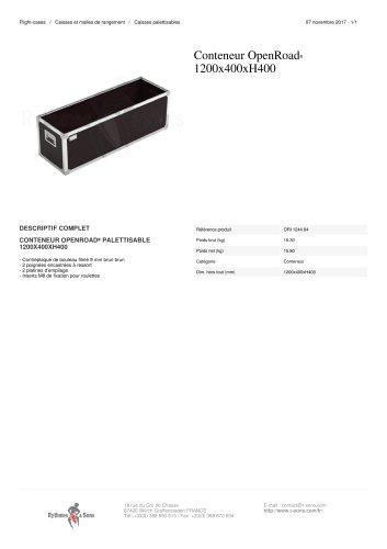 CONTENEUR OPENROAD® 1200X400XH400