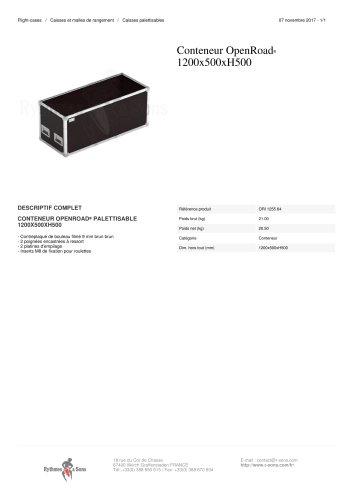 CONTENEUR OPENROAD® 1200X500XH500