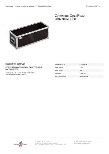 CONTENEUR OPENROAD® 800X300XH300