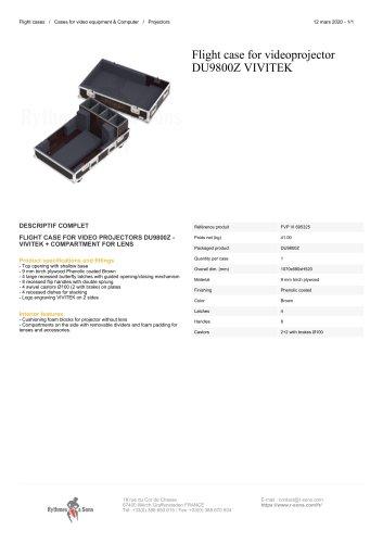 Flight case for videoprojector DU9800Z VIVITEK