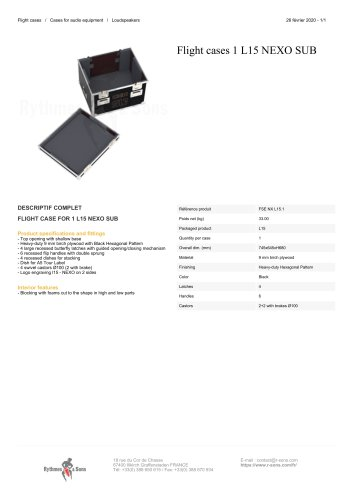 Flight cases 1 L15 NEXO SUB