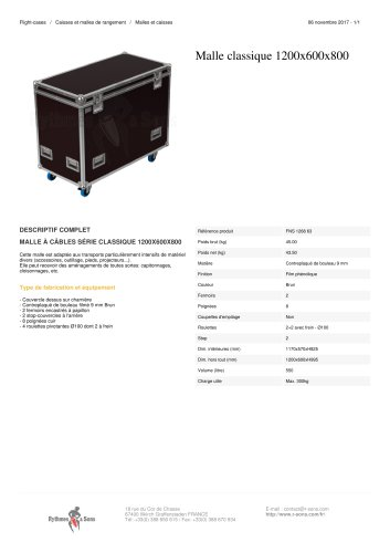 MALLE CLASSIQUE 1200X600X800