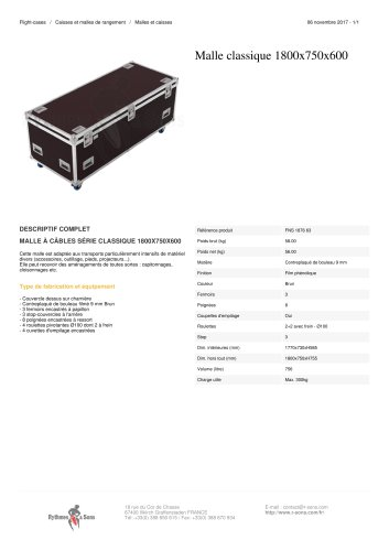 MALLE CLASSIQUE 1800X750X600