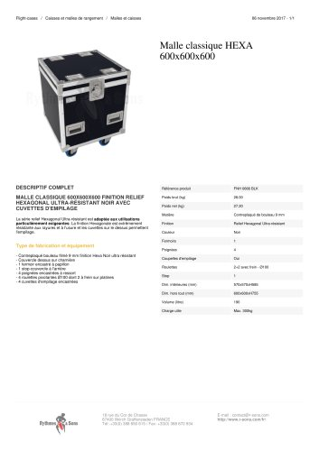MALLE CLASSIQUE HEXA 600X600X600