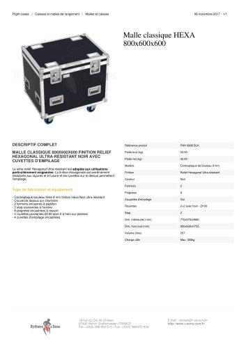 MALLE CLASSIQUE HEXA 800X600X600
