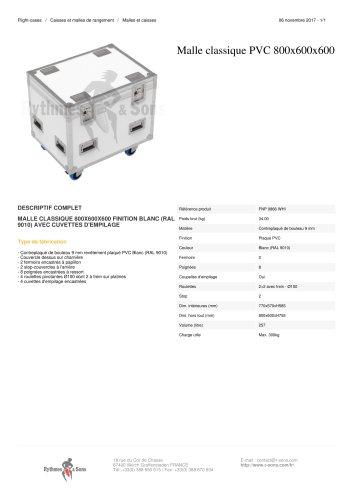 MALLE CLASSIQUE PVC 800X600X600 finition Blanc