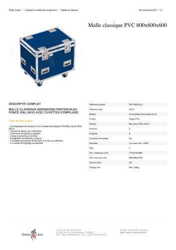 MALLE CLASSIQUE PVC 800X600X600 finition bleu