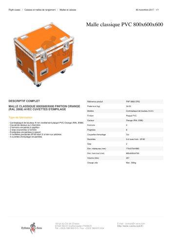 MALLE CLASSIQUE PVC 800X600X600 finition orange